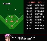 Baseball Stars 2 NES You can even shift formations