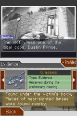 Phoenix Wright: Ace Attorney - Justice for All Nintendo DS More evidence