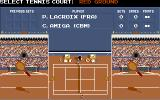 G.P. Tennis Manager Amiga Selecting court during practice with C. Amiga...what a player?...:-)