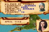Defender of the Crown Game Boy Advance Wilfred of Ivanhoe on the map with his lady