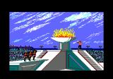 The Games: Winter Edition Amstrad CPC Lighting the torch in the opening ceremony.