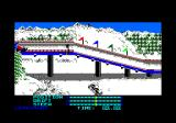 The Games: Winter Edition Amstrad CPC At the starting area for Luge.