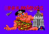 Los Inhumanos Amstrad CPC Title screen