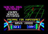 3D Starstrike Amstrad CPC The reactor pods are destroyed. Prepare to escape.