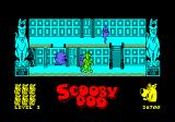 Scooby-Doo Amstrad CPC Level 3. The ghosts now go up and down stairs.