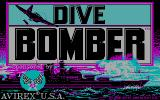 Dive Bomber DOS US title screen (CGA)