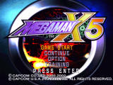 Mega Man X5 Windows Main menu