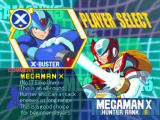 Mega Man X5 Windows Player selection screen