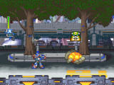 Mega Man X5 Windows Megaman shooting enemy