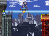 Mega Man X5 Windows High above ground.Jump into safety.
