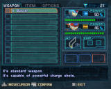 Mega Man X8 Windows Weapon and item inventory