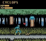 X-Men: Mutant Wars Game Boy Color Defeated enemies leave you a heart that replenishes your health meter