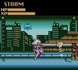 X-Men: Mutant Wars Game Boy Color Storm attacking