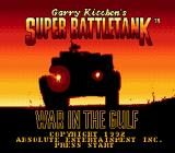 Garry Kitchen's Super Battletank: War in the Gulf Genesis Title screen