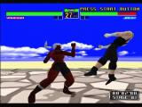 Virtua Fighter 4: Evolution PlayStation 2 Here's Vanessa punching Jacky in the face.