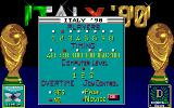 Italy '90 Soccer Amiga Gameplay adjustment...