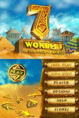 7 Wonders of the Ancient World Nintendo DS Title Screen