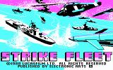 Strike Fleet DOS Title screen (CGA)