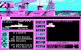 Strike Fleet DOS Beginning a new game (CGA)