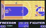 Basket Playoff Commodore 64 The ball is not in hands...Where are your (green) players?...
