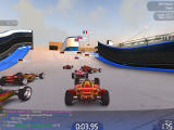 TrackMania Nations Forever Windows Lots of opponents, but you can drive right through them.