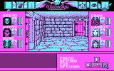Wizardry: Bane of the Cosmic Forge DOS Exploring the dungeon (CGA)