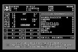 Wizardry: Bane of the Cosmic Forge Macintosh Setting up character stats.