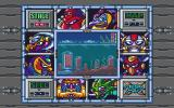 Mega Man X DOS Level selector screen