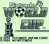 Nintendo World Cup Game Boy Title screen