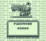 Nintendo World Cup Game Boy Enter password if continuing a 1 player game.
