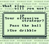 Nintendo World Cup Game Boy Select you strategy.