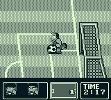 Nintendo World Cup Game Boy The goalie stopped the ball. Now he will kick it back.