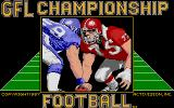 GFL Championship Football Atari ST Title screen