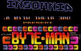 Byte-Man Atari ST Title screen