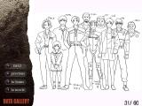Resident Evil 2 Windows The PC Platinum version includes such extras as concept art, including this sketch of the game's cast... From left to right: Annette, Sherry, Ben, Leon, Marvin, Claire, Robert Kendo, Ada, Hunk, and Chief Irons