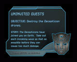 Transformers: The Game Windows Mission objectives