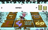 "Lucky Luke: Gamblin' Cowboy Commodore 64 Write the word ""NAMES"" selecting the letters quickly and get the money..."