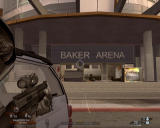 Tom Clancy's Rainbow Six: Vegas 2 Windows In front of Baker Arena