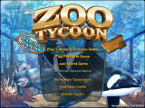 Zoo Tycoon Complete Collection Windows Main menu