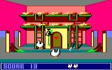 Chicken Chase Amstrad CPC A worm decides to pop in and say hello