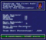 Bulls vs. Lakers and the NBA Playoffs Genesis The game now keeps track of player stats during the course of the game
