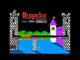 Dragonfire Apple II Title screen