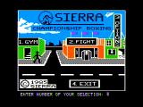 Sierra Championship Boxing Apple II Title screen