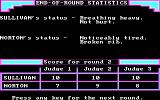 Sierra Championship Boxing PC Booter End of round statistics