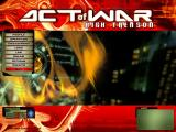 Act of War: High Treason Windows Main menu