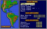 Gold of the Americas: The Conquest of the New World Atari ST Main menu