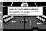 Space Quest: Chapter I - The Sarien Encounter Macintosh Hmm, a development laboratory...