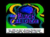 The Black Cauldron Apple II Title screen