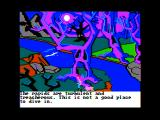 The Black Cauldron Apple II A spooky looking forest