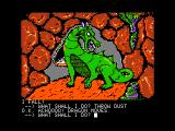 Sorcerer of Claymorgue Castle Apple II Looks like I annoyed a dragon